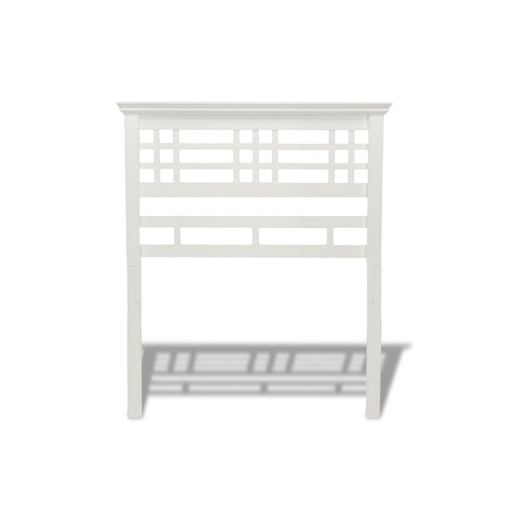 Fashion Bed Group Avery Cottage White Twin Wooden Headboard With Mission Style Design
