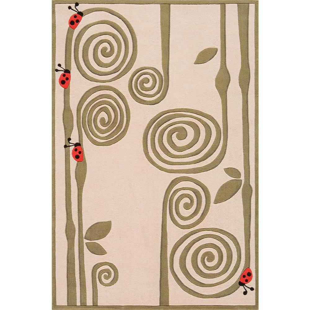 Caprice Ivory 5 ft. x 7 ft. Indoor Area Rug