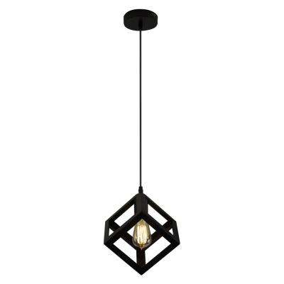 70 in. 1-Light Vintage Iron Square Single Pendant
