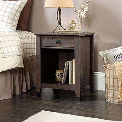 Carson Forge 1-Drawer Coffee Oak Nightstand
