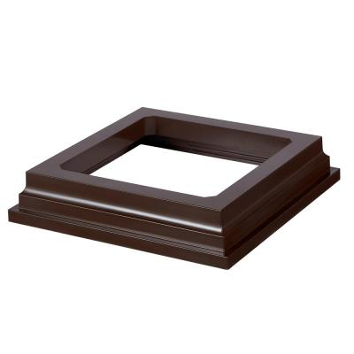 HavenView CountrySide 5 in. x 5 in. Simply Brown Post Sleeve Base Moulding
