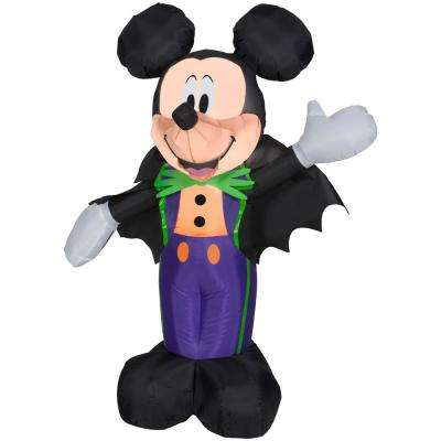 3.51 ft. Pre-Lit Inflatable Mickey in Halloween Tux Airblown