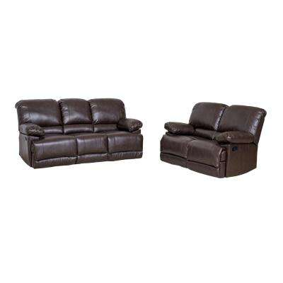 4 People Reclining Faux Leather Sofas Loveseats Living