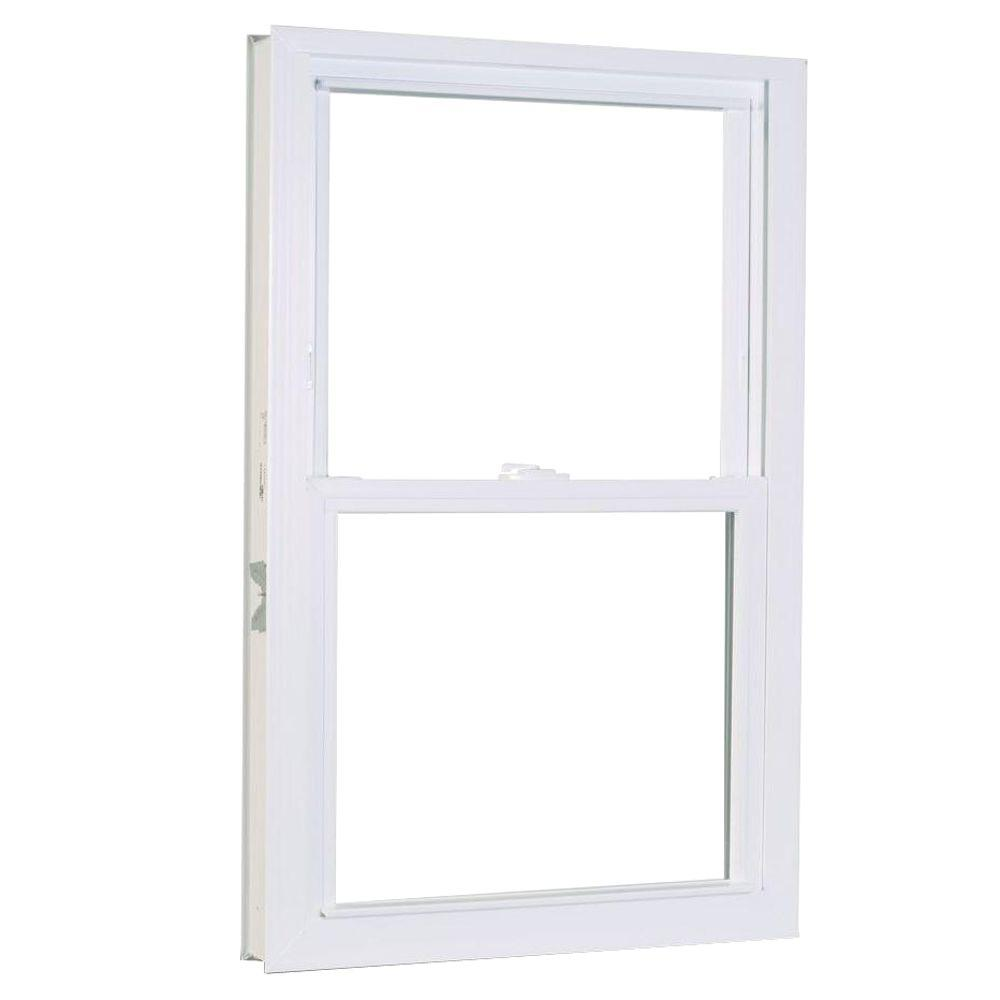 31.75 in. x 61.25 in. 1200 Series Double Hung Buck Vinyl