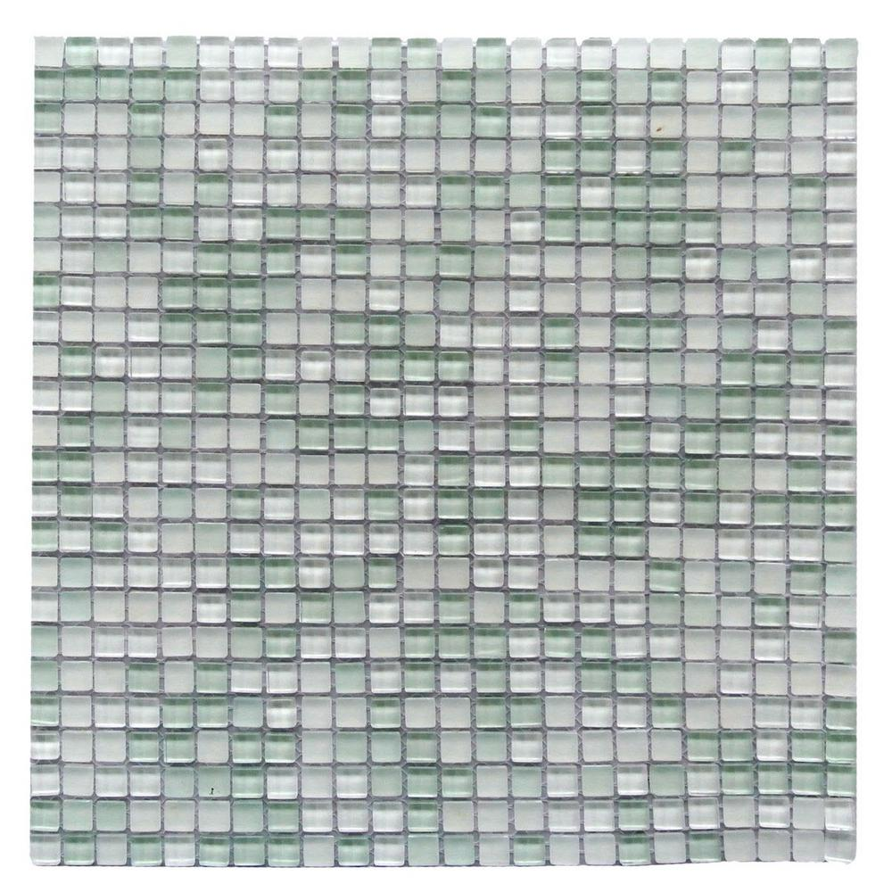 Green mosaic tile tile the home depot petite ice cube green 117 in x 117 in 3125 mm dailygadgetfo Choice Image