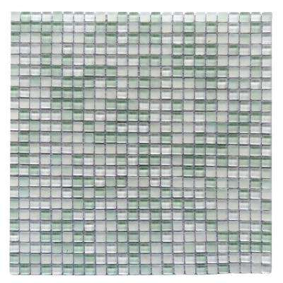 Petite Ice Cube Green 11.7 in. x 11.7 in. 3.125 mm Glass Mosaic Tile