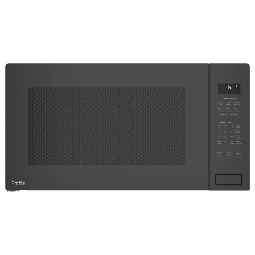 GE Profile 2.2 cu. ft. Countertop Microwave in Gray with ...