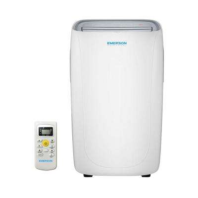 12,000 BTU 115-Volt Portable Air Conditioner with Dehumidifier Function and Remote in White