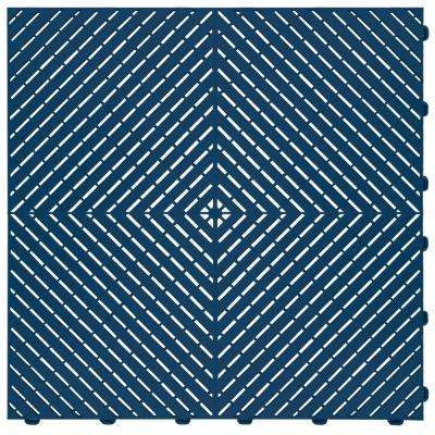 15.75 in. x 15.75 in. Blue Ribtrax Smooth ECO Flooring (6-Tile/pack) (10 sq. ft.)
