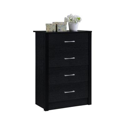4-Drawer Black Chest