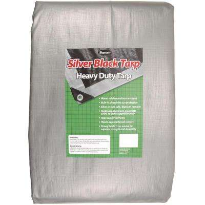 12 ft. x 20 ft. Silver Black Heavy Duty Tarp