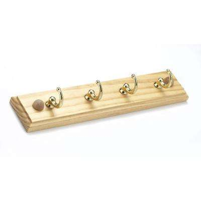 8-5/8 in. Key Holder in Brass and Maple