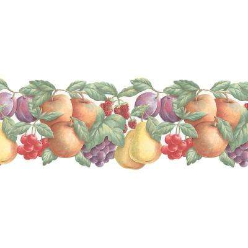 Double Die Cut Fruit Wallpaper Border