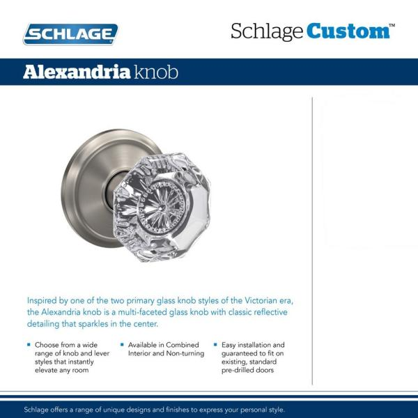 Schlage FC59ALX608CAM Schlage FC59-ALX-CAM Custom Alexandria Single Cylinder Sectional Interior Pack with Camelot Rose