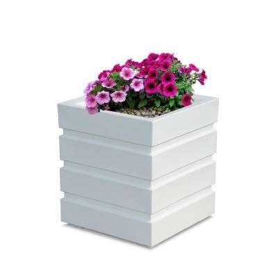 Self-Watering Freeport 18 in. Square White Plastic Planter