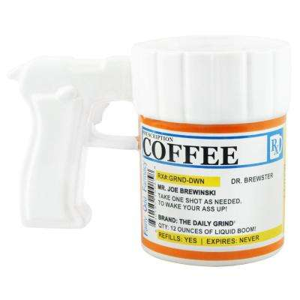 12 oz.Prescription Gun Coffee Mug - 24PK