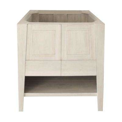 Significado 30 in. W Teak Vanity Bath Cabinet Only in Driftwood