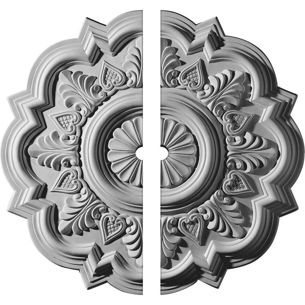 Ekena Millwork 20 1/4 In. O.d. X 1 1/2 In. I.d. X 1 1/2 In. P Deria Ceiling Medallion (2 Piece)