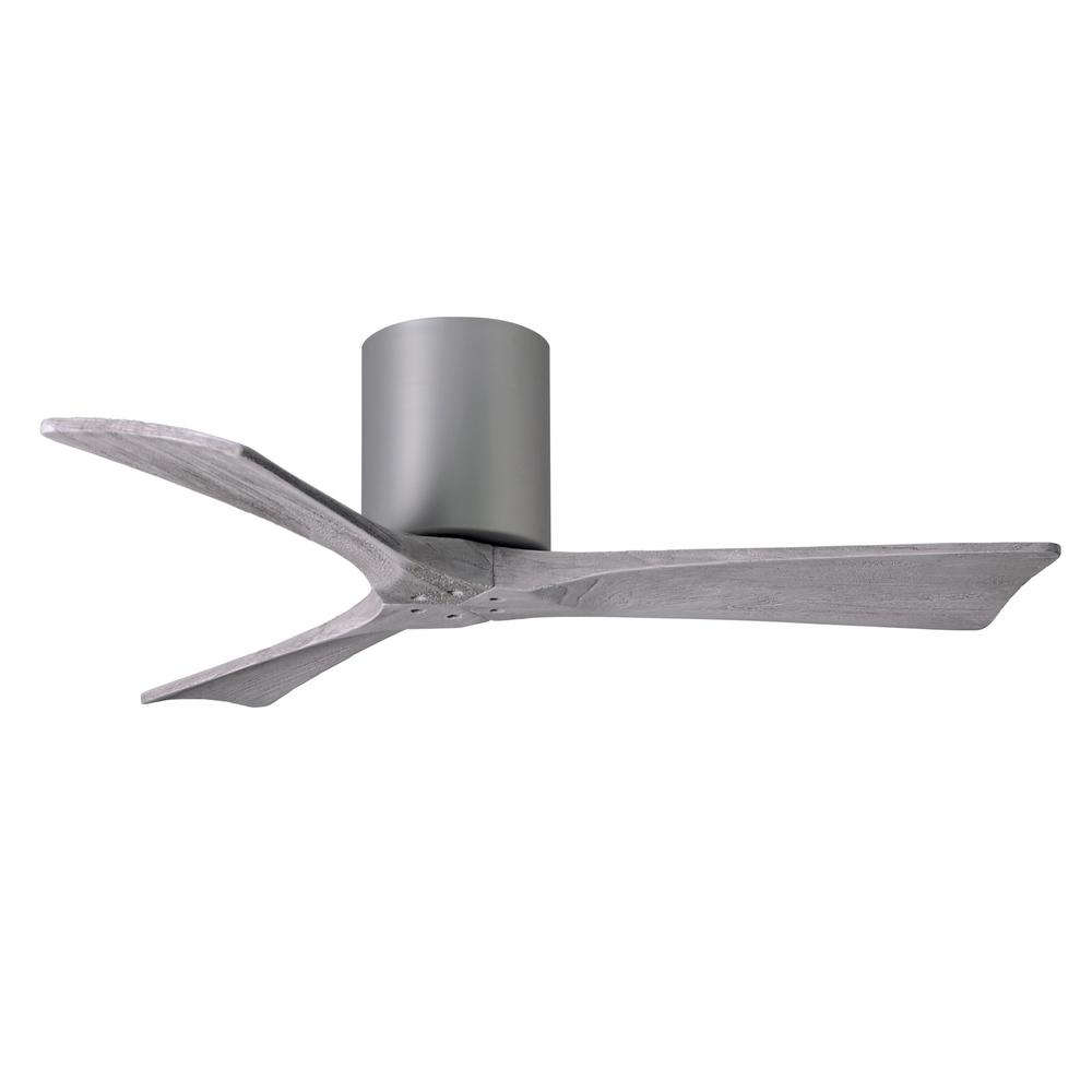 Atlas Irene 42 in. Indoor/Outdoor Brushed Nickel Ceiling Fan with Remote Control and Wall Control
