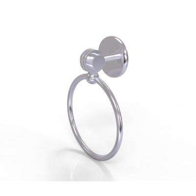 Satellite Orbit Two Collection Towel Ring with Dotted Accent in Satin Chrome