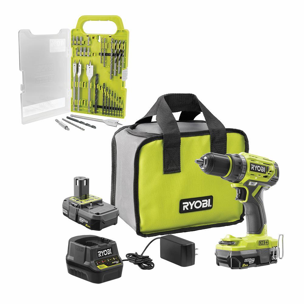 RYOBI 18-Volt ONE+ Cordless Brushless 1/2 in. Drill/Driver Kit w/ BONUS Black Oxide Drill and Drive Kit (31-Piece)