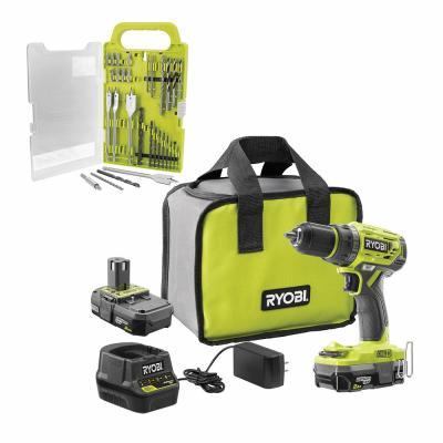 18-Volt ONE+ Cordless Brushless 1/2 in. Drill/Driver Kit w/ BONUS Black Oxide Drill and Drive Kit (31-Piece)