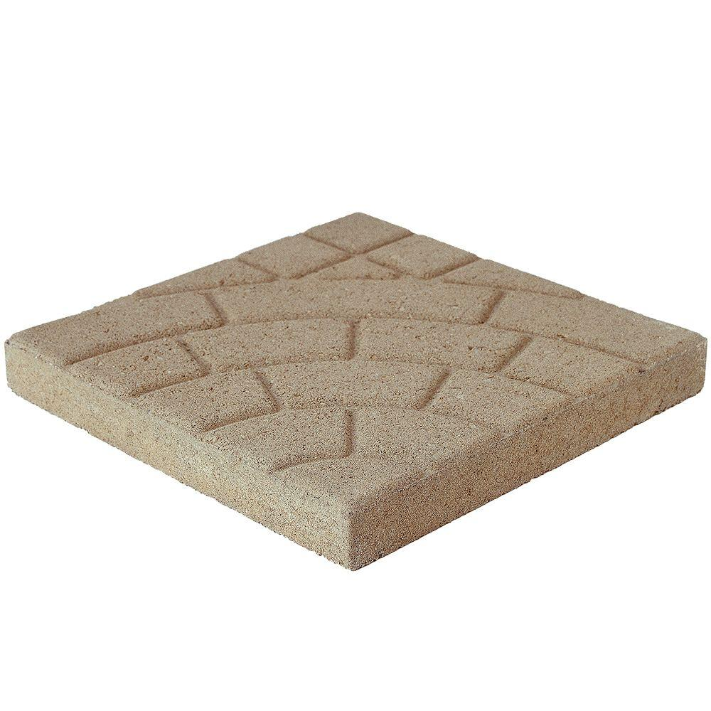 Pavestone Bella Cobble 16 in. x 16 in. x 1.75 in. Buff Concrete Step Stone
