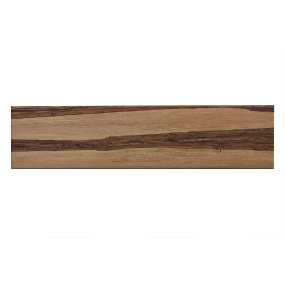 My Home Pecan Natural 6 In X 24 In Porcelain Floor And