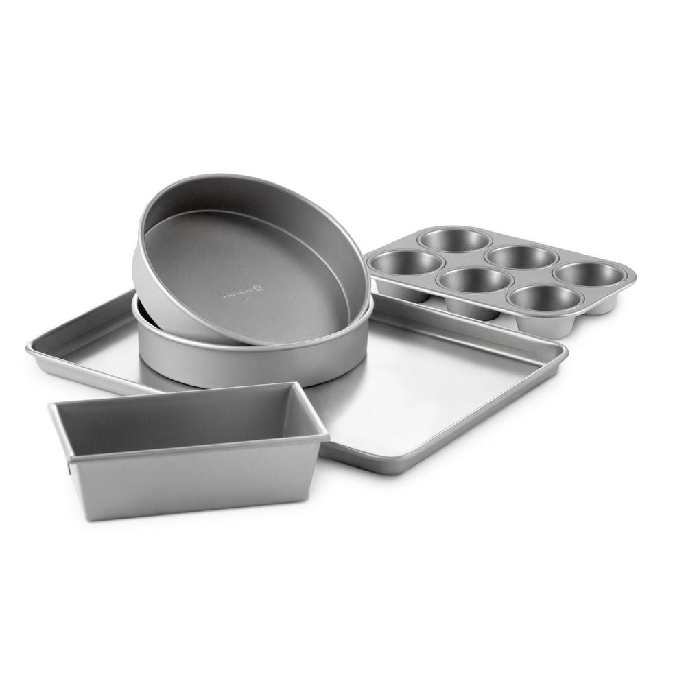 5-Piece Silver Nonstick Bakeware Set