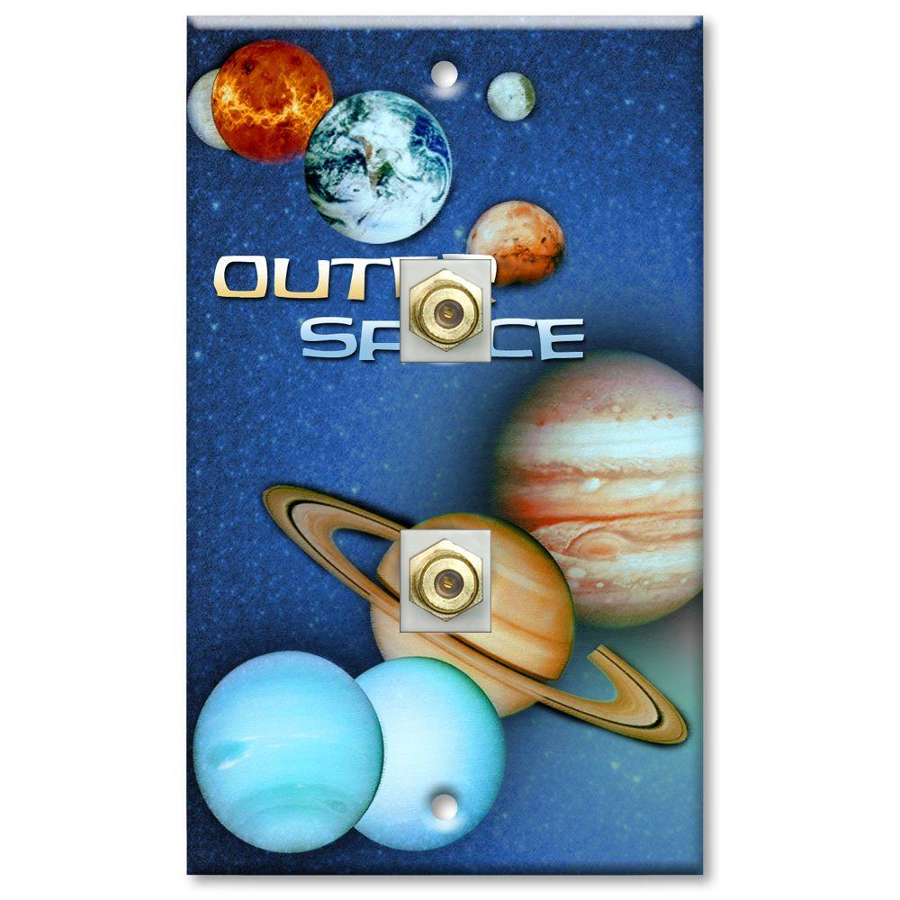 Art Plates Outer Space 2 Cable Wall Plate