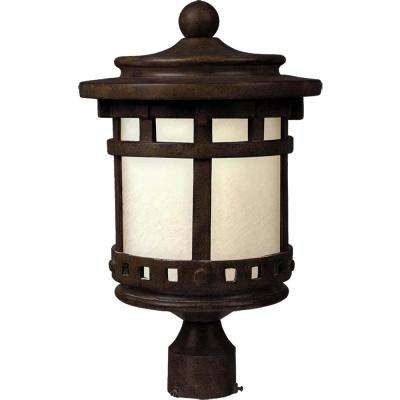 Santa Barbara 9 in. Wide 1-Light Outdoor Sienna Post Light