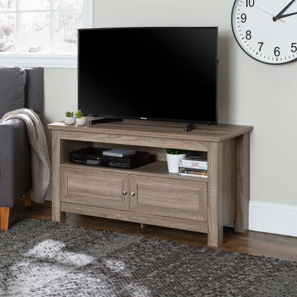 Walker Edison Furniture Company 44 in. Wood TV Stand - Driftwood