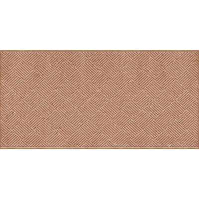 WaterGuard Diamonds Medium Brown 3 ft. x 8 ft. Polypropylene Mat