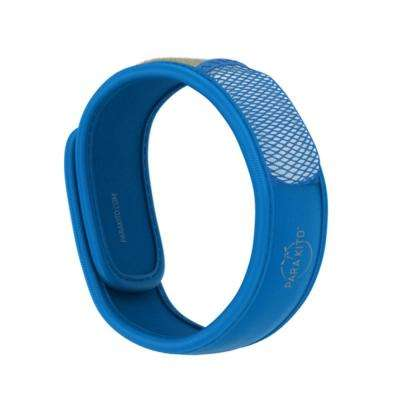 Blue Refillable Mosquito Repellent Wristband