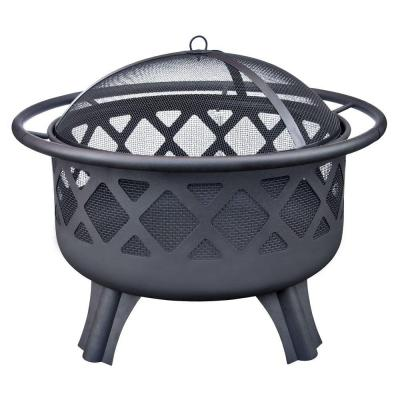 Hampton Bay Crossfire 2950 In Steel Fire Pit With Cooking Grate