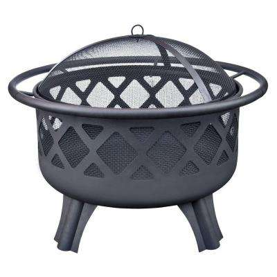 Crossfire 29.50 in. Steel Fire Pit with Cooking Grate