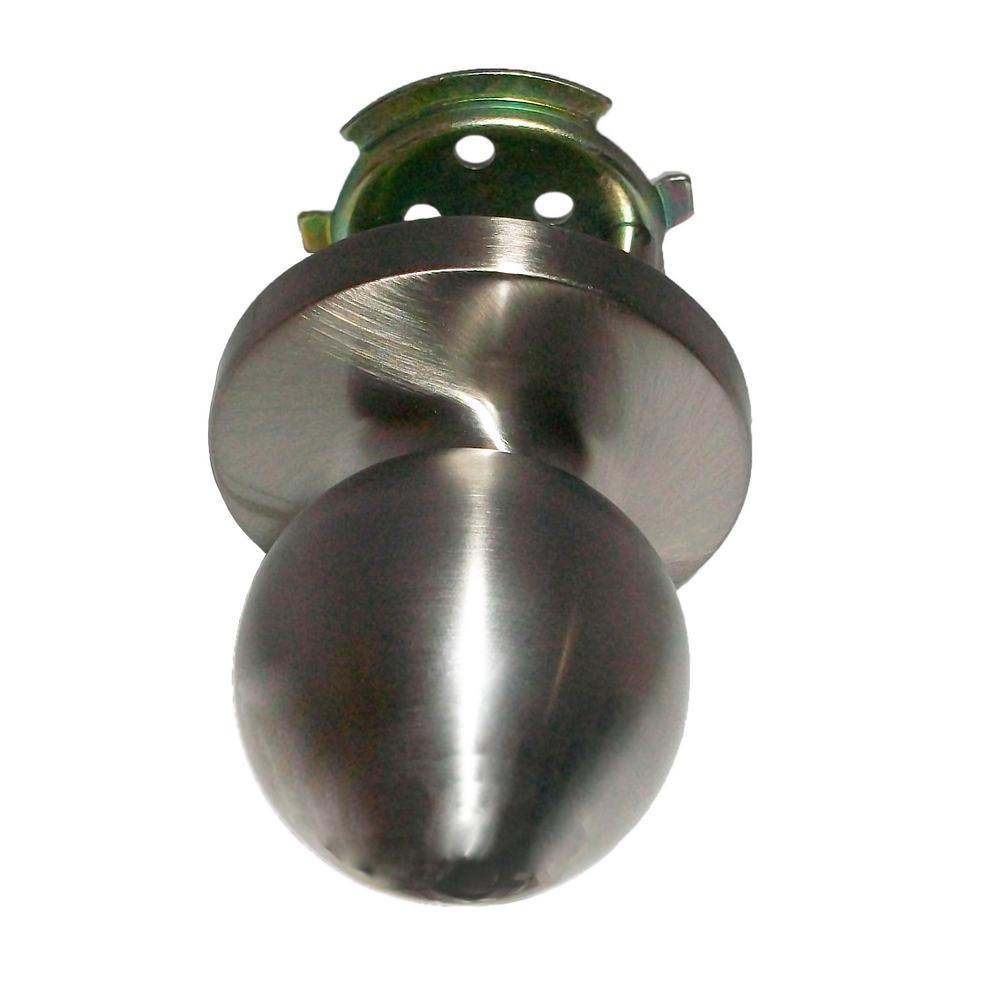 ED-BKL510-US32D Passage Ball Knob Lock in Satin Stainless Steel