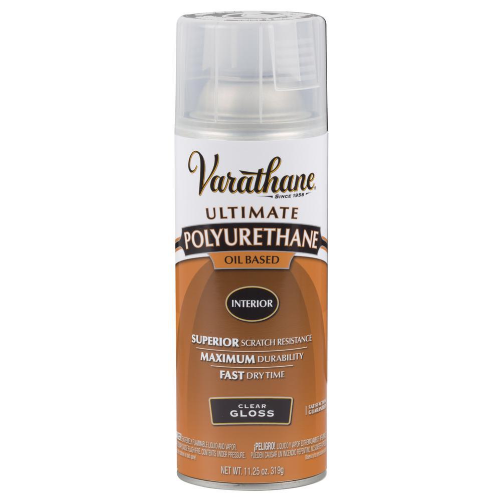 11 oz. Clear Gloss Oil-Based Interior Polyurethane Spray Paint (6-Pack)