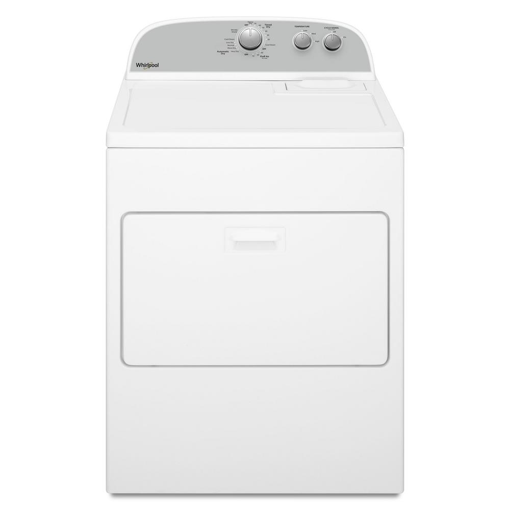 7.0 cu. ft. 240-Volt White Electric Vented Dryer with AUTODRY Drying