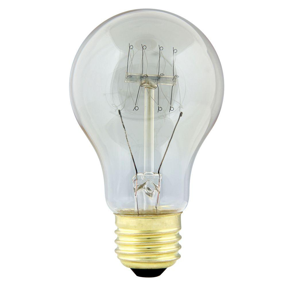 Feit Electric 40-Watt Soft White AT19 Dimmable Incandescent Antique ...