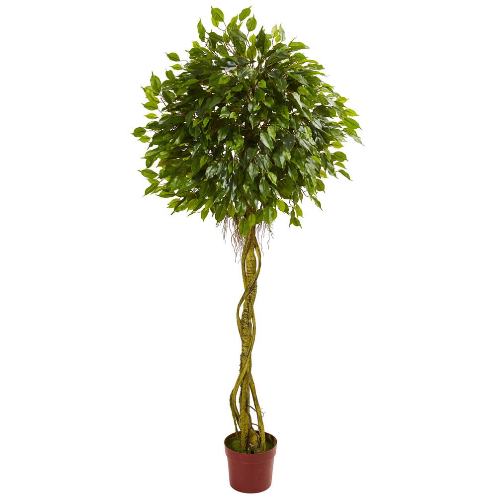 nearly natural 6 ft. uv resistant indoor/outdoor ficus artificial