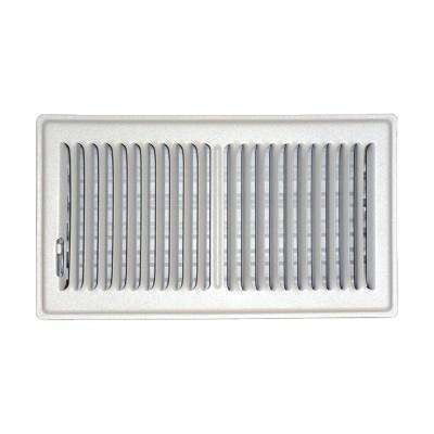 6 in. x 12 in. Floor Vent Register, White with 2-Way Deflection