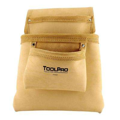 3-Pocket Split Leather Nail and Tool Pouch