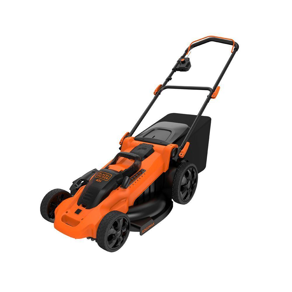 Black & Decker 20 inch 40-Volt MAX Lithium-Ion Cordless Walk Behind Push Lawn Mower with (2) 2.5 Ah Batteries and... by BLACK+DECKER
