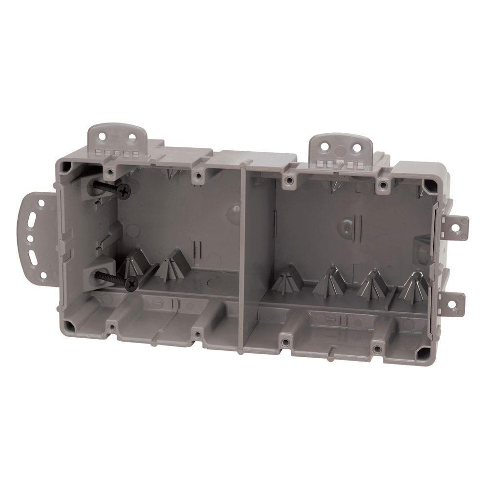 Smart Box 4-Gang Multi-Mount Adjustable Depth Device Box