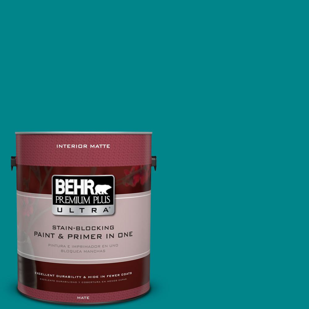 1 gal. #500B-7 Tucson Teal Flat/Matte Interior Paint