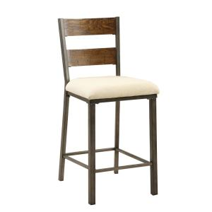 Sensational Furniture Of America Faven 25 In Weathered Oak Upholstered Alphanode Cool Chair Designs And Ideas Alphanodeonline