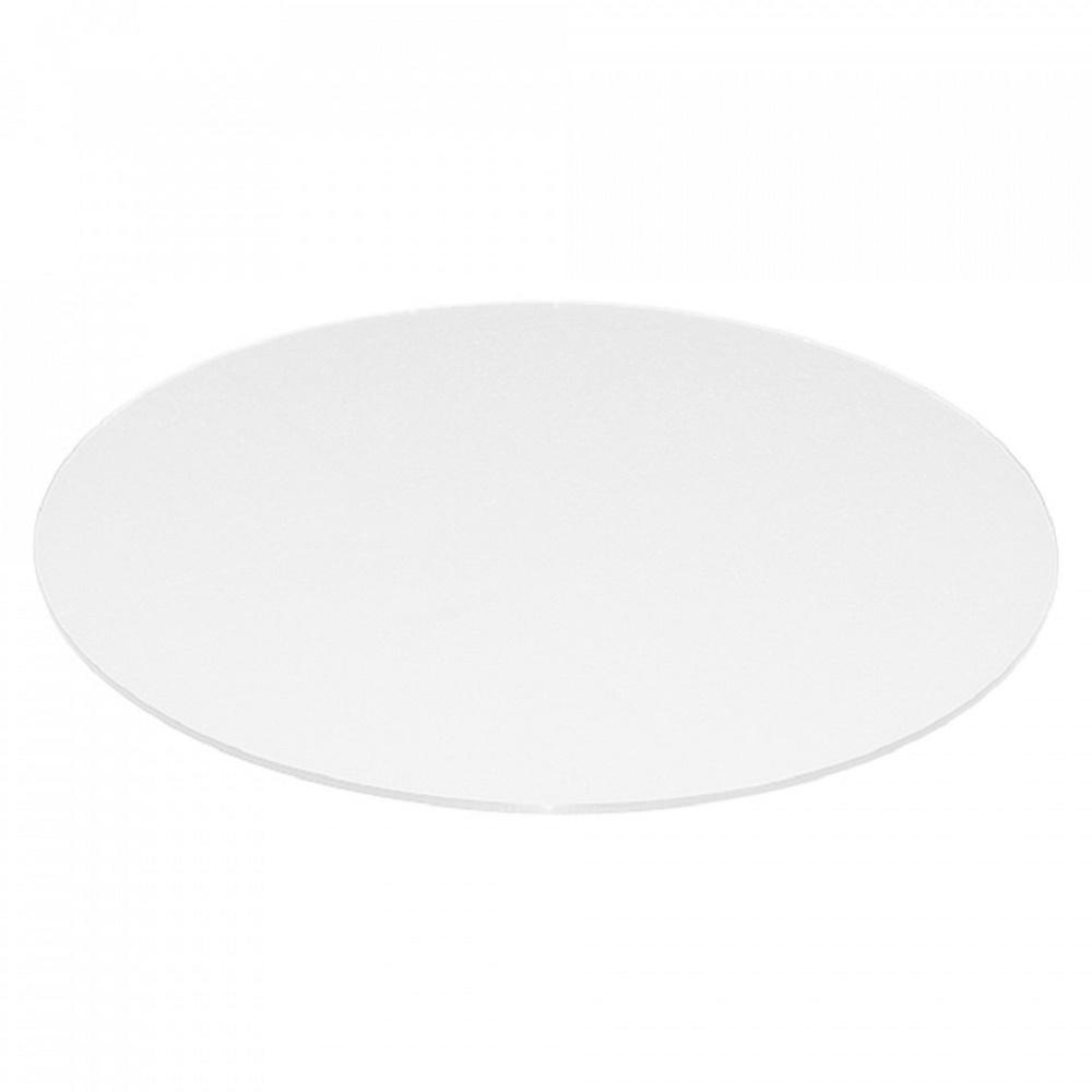 Fab Glass And Mirror 24 Inch Extra White Round Glass Table Top Back