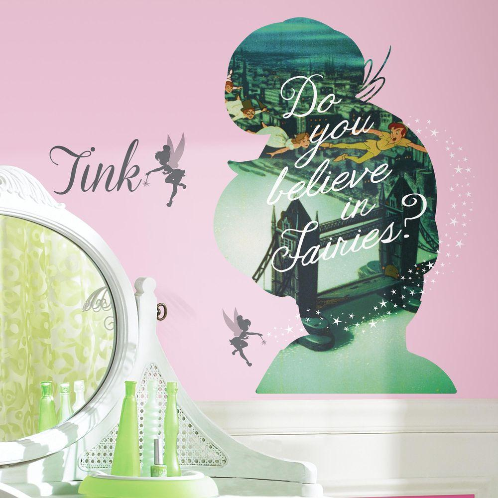 2.5 in. x 21 in. Tinker Bell Silhouette Mega Peel and