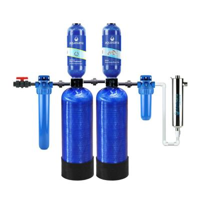 Rhino Series 6-Stage 500,000 Gal. Well Water Filtration System w/ Whole House Salt-Free Water Conditioner and UV Filter